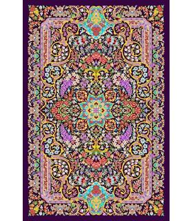 نخ و نقشه فرش تمام ابریشم کد 27 روشن