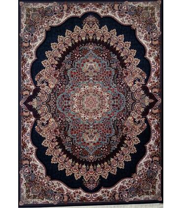 فرش ماشینی زمرد مشهد طرح 18130سورمه ای