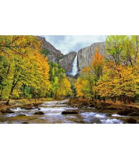 نخ و نقشه تابلو فرش طرح آبشار پاییزی