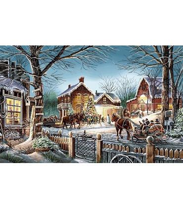 نخ و نقشه تابلو فرش طبیعت کد 16 طرح کریسمس