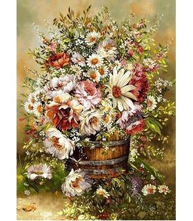 نخ و نقشه تابلو فرش طرح گل آندریا