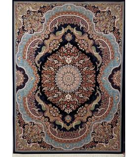 فرش زمرد مشهد طرح 25014 سورمه ای