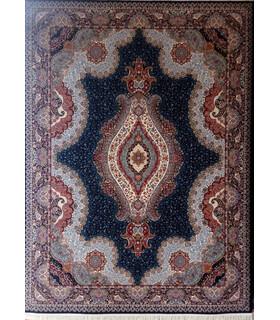 فرش زمرد مشهد طرح 25018 سورمه ای